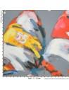 Collection Patrick Plattier :  Les Régates voiliers - Tissus Ameublement - Tissus des Docks de la Negresse - Biarritz