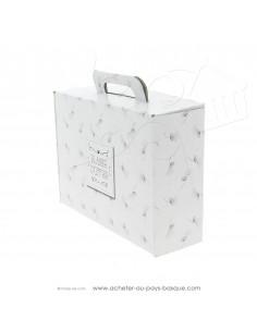 Acheter grande valisette vide carton blanche  plaisir d'offrir motifs discrets composer vos coffrets cadeaux personnalisés