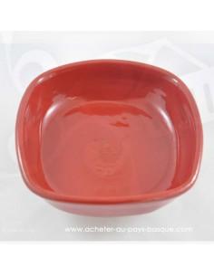 Plat à Gratin Sorgina (soricère) rouge basque  - Jean de la Terre - Ekibidea Cambo les Bains