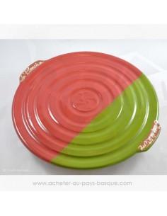 Plat à pierrade rouge basque et vert - plancha - Jean de la Terre - Ekibidea - Cambo les Bains