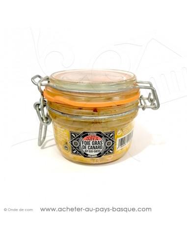 Foie Gras de canard entier IGP conserve basque délices d'aita itxassou 130g - vente en ligne