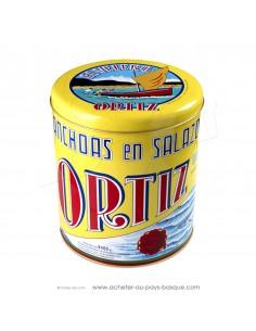 Idée cadeau original à composer avec cette boite en fer des conserves Ortiz diamètre 21 - idée cadeau