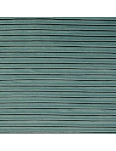 tissu velours plissé vert d'eau 140 Please de Thevenon - Tissus Ameublement au mètre pour chaise rideaux canapé fauteuil