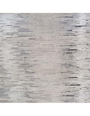 Tissu jacquard BANDIT gris noir THEVENON Automne Hiver 2018 - Tissu ameublement patchwork - Biarritz vente en ligne