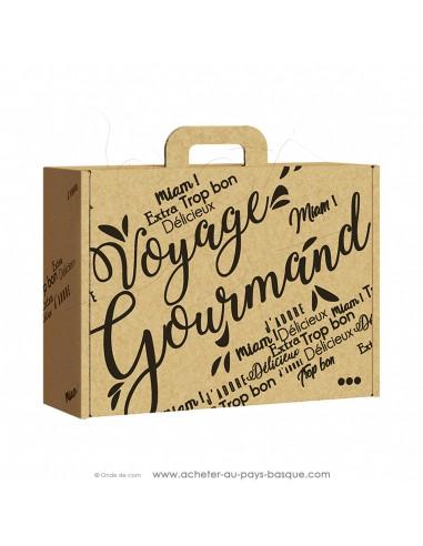 Acheter cette grande valisette Rectangle carton vide Kraft pour composer vos coffrets cadeaux personnalisés : 34,2x25x11,5 cm