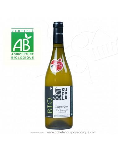Cidre basque Kupela Beltza vin de pommes Bio - cidre traditionnel brut certifié agriculture biologique - aperitif basque