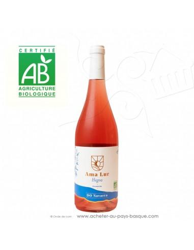 Vin Bio Amalur Hegoa appellation d'origine Navarre rosé - vin basque espagnol issu de l'agriculture biologique - apero tapas
