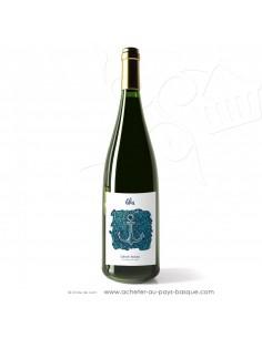 Vin blanc pétillant label d'origine Txakolina Txakoli Blai - vin basque spécialité Pays basque - apéro tapas entre amis