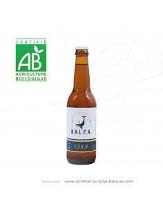 Toute une gamme de bières Basques artisanales Bio ici la Ternua bière blonde 4,5 % 33cl - boisson issue agriculture biologique