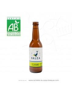 Toute une gamme de bières Basques artisanales Bio ici la Elkano bière Ipa 6 % 33cl - boisson issue agriculture biologique