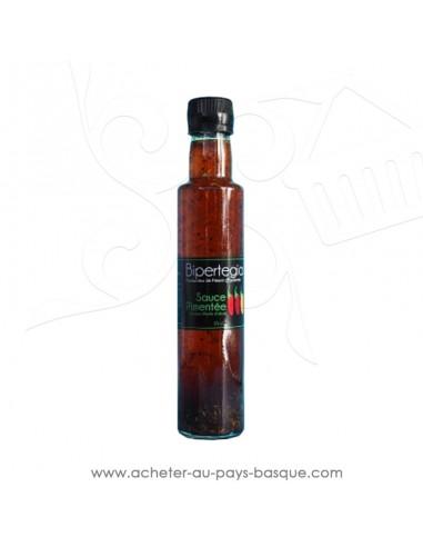 Sauce pimentée à base d'huile d'olive et piment d'espelette  - Bipertegia producteur Basque Espelette en vente