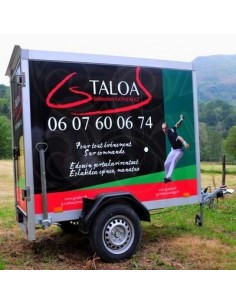 Remorque réfrigérée GS TALOA (3 m3) - location à Ascain Sébastien Gonzalez - Fête basque chez vous avec acheter au pays basque .