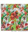 Piqué fleuri - Tissus Habillement Docks Negresse Biarritz en vente