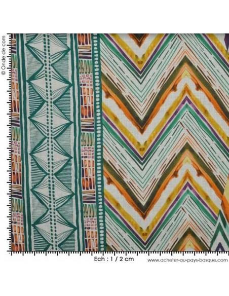 Impression Ethnique - Tissu Habillement  - Tissus Habillement des Docks de la Negresse - Biarritz