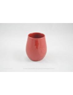 Verre à Sangria rouge - céramique - Jean de la Terre - Ekibidea Cambo les Bains