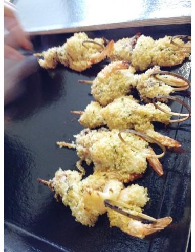 Brochette crevettes et calamars- Plats Italiens - La pasta dell isi