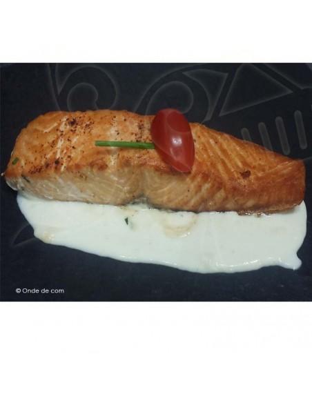Dos de saumon au vin blanc