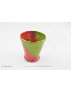 Verre Tasse Basque - Rouge et vert céramique - Jean de la Terre - Ekibidea Cambo les Bains