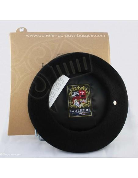 Le beret Basque Authentique - noir coiffe traditionnelle - Basco'thentic - Bidart