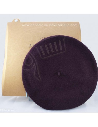 Le beret Basque Authentique - violet coiffe traditionnelle - Basco'thentic - Bidart