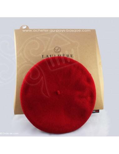Le beret Basque Authentique - rouge coiffe traditionnelle - Basco'thentic - Bidart