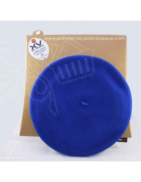 Le beret Basque - bleu XV france traditionnelle - Basco'thentic - Bidart