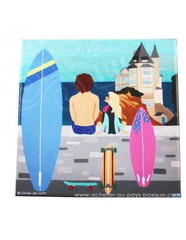 Cadre le petit surfeur - boutique produit regionaux - Basco'thentic - Bidart