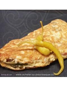 Omelette piments - entrée -  plat à emporter - Traiteur Carlier marché Halles de Biarritz