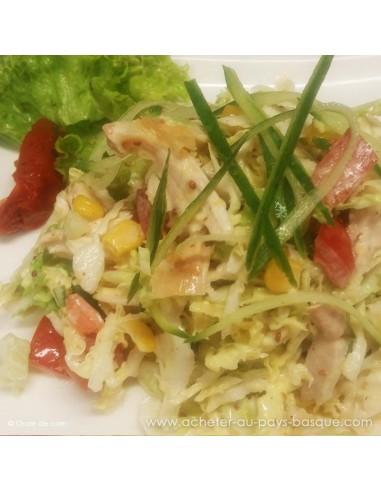 Salade multicolore - Plat entree basque à emporter Carlier Traiteur Halles de Biarritz