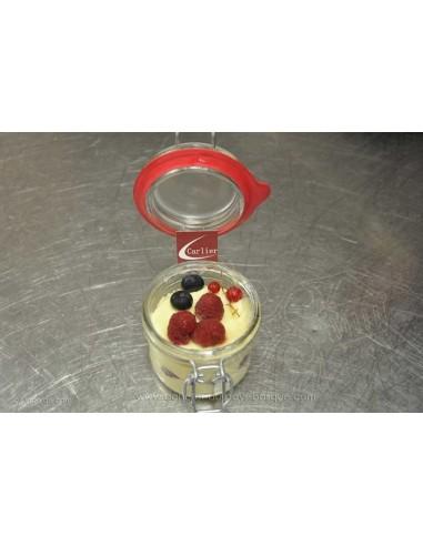 Framboisier en verrine bocal - Dessert - plat à emporter - Traiteur Carlier marché Halles de Biarritz