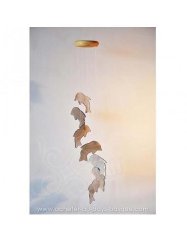 Mobile carillon agate dauphins bleus - livraison à domicile