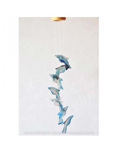 Mobile agate requins bleus gris - bresil boutique