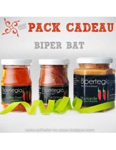 Coffret Cadeaux gourmands BIPER BAT : Piment d'espelette - gelée de piments et Moutarde Basque