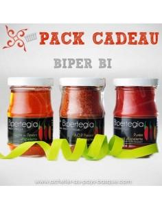 BIPER BI : Assortiment de Piment d'espelette à offrir avec sa gelée  et sa purée de piments Basques