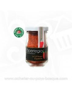 BIPER HIRU : Assortiment de Piment d'espelette pour la cuisine avec sel et piments entiers en conserve