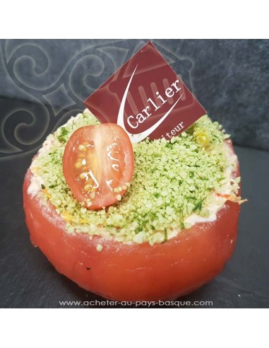 Tomate au crabe  - entrée - plat à emporter - Traiteur Carlier marché Halles de Biarritz