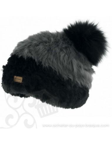 Bonnet Noir Accola Herman 1874 - Z'heros concept Biarritz - acheter bonnet basque
