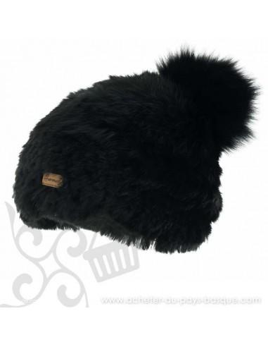 Bonnet Bacall Noir Herman 1874 - Z'heros concept Biarritz - acheter bonnet basque
