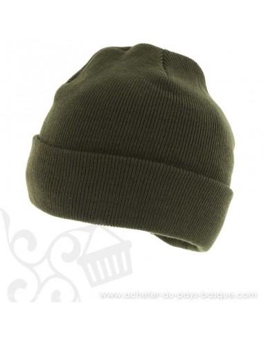 Bonnet B-4100 kaki Herman 1874 - Z'heros concept Biarritz - acheter bonnet basque