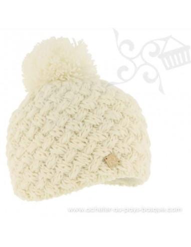 Bonnet ecru ICE 8100 Herman 1874 - Z'heros concept Biarritz - acheter bonnet basque