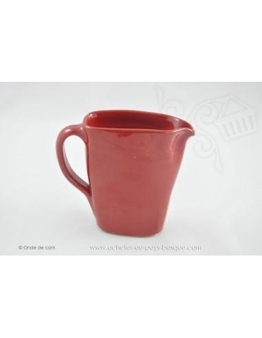 Pichet rouge en céramique -  Jean de la Terre - Ekibidea Cambo les Bains